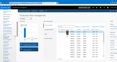 Microsoft Dynamics 365 Production Floor