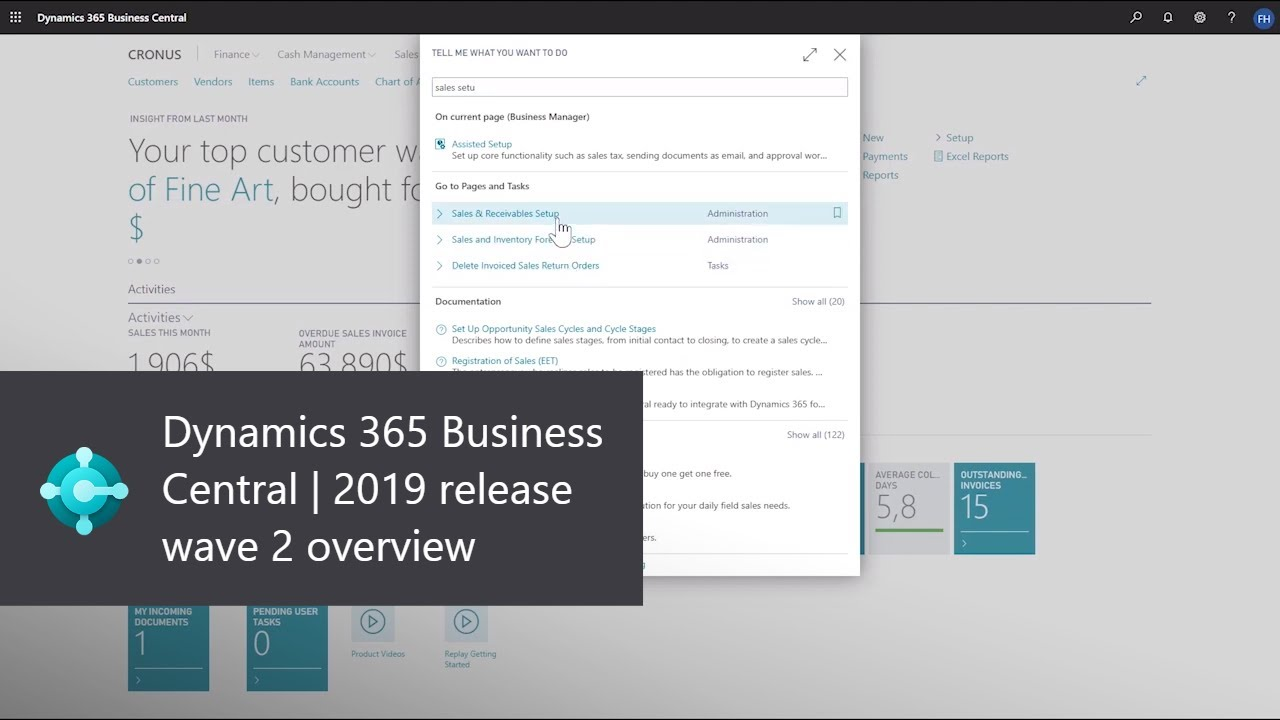 Dynamics 365 Business Central wave 2 features