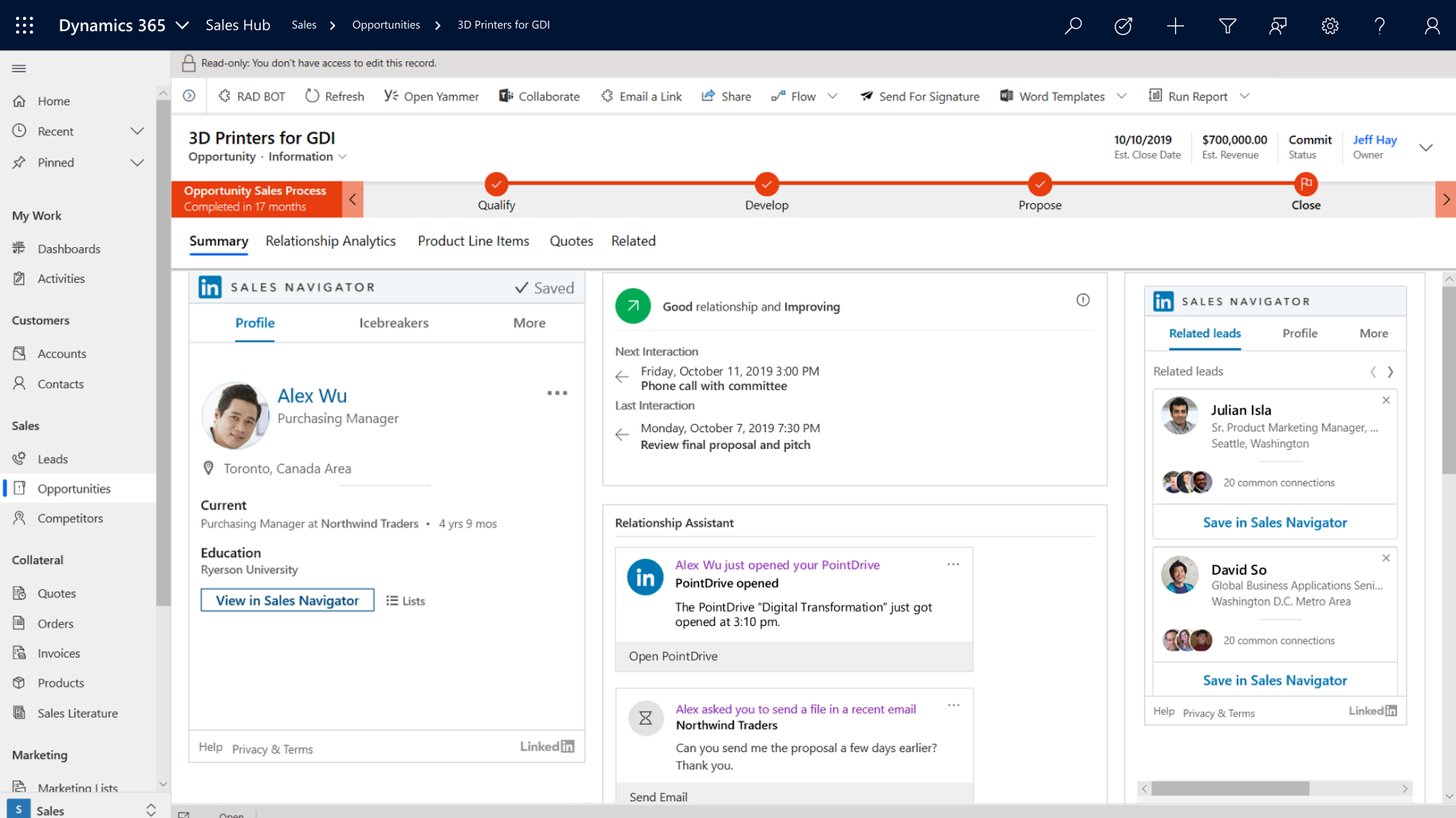 Integrate LinkedIn solutions in Dynamics 365